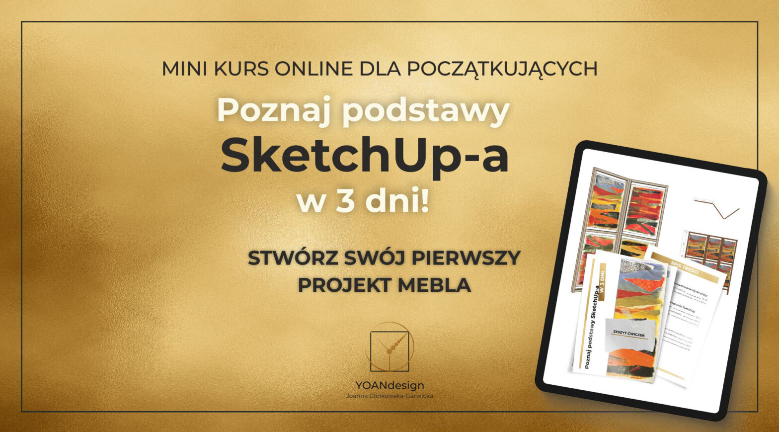 Poznaj podstawy SketchUp-a w 3 dni!